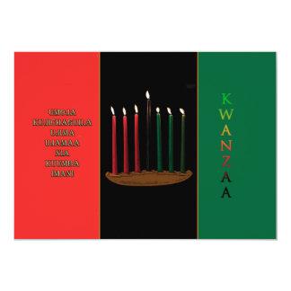 Seven Candles Kwanzaa Holiday Party Invitations