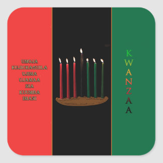 Seven Candles Kwanzaa Holiday Stickers