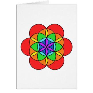 Seven Chakra Flower of Life Card