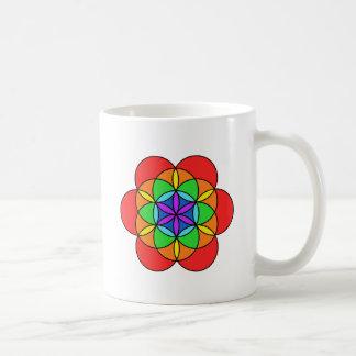 Seven Chakra Flower of Life Coffee Mugs