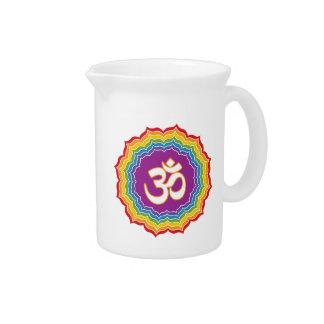 Seven Chakras Colors Beverage Pitcher