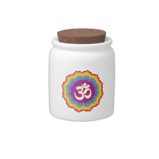 Seven Chakras Colors Candy Dishes