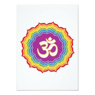 Seven Chakras Colors Card