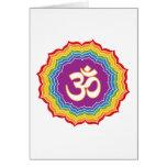 Seven Chakras Colors Greeting Card