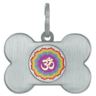 Seven Chakras Colors Pet ID Tag