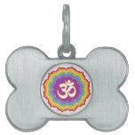Seven Chakras Colors Pet Tag