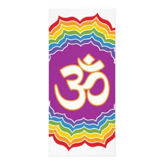 Seven Chakras Colors Rack Card