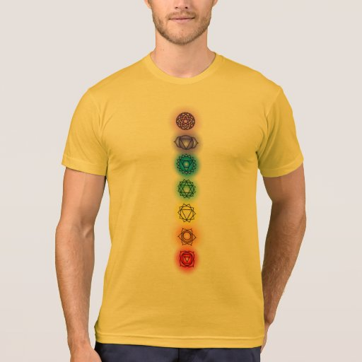 Seven Chakras Heather Gold American Apparel Tee Shirts