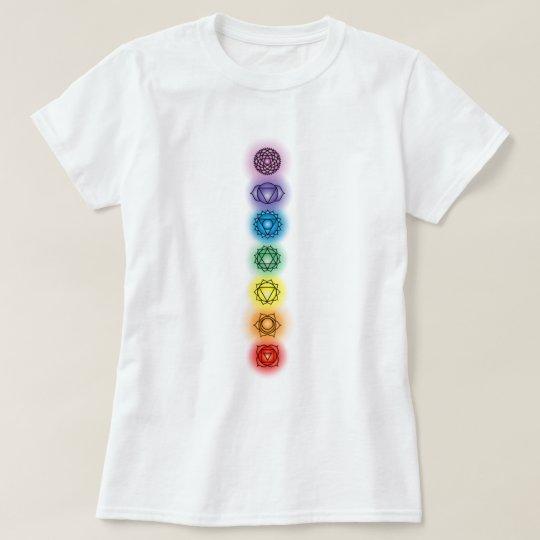 Seven Chakras Ladies Baby Doll T-shirt
