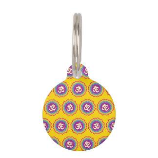 Seven Chakras pattern Pet Tags