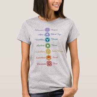 Seven Chakras Sanskrit Names Energy Balancing T-Shirt