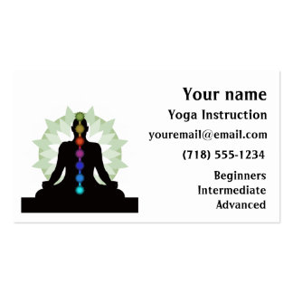 Seven Chakras Yoga Design Business Cards