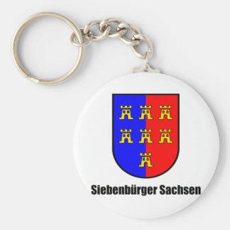 Seven-citizen Saxonia Basic Round Button Keychain