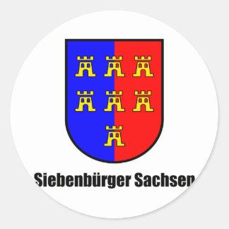 Seven-citizen Saxonia Round Sticker