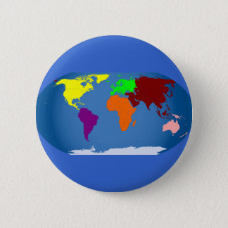 Seven Continents Colored Button