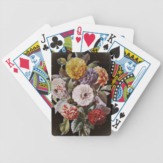 Seven Dahlias Bouquet Bicycle Playing Cards