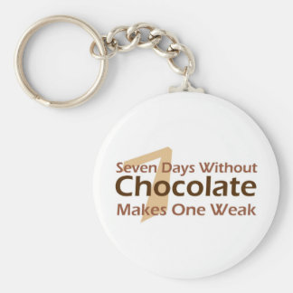 Seven Days Without Chocolate Keychain