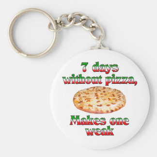 Seven Days Without Pizza Keychain