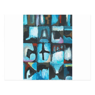 Seven Deadly Sins ( abstract symbolism art) Postcard