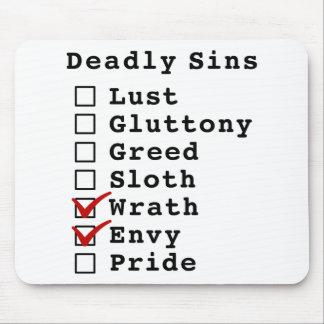 Seven Deadly Sins Checklist (0000110) Mousepad