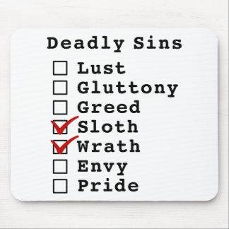Seven Deadly Sins Checklist (0001100) Mouse Pads