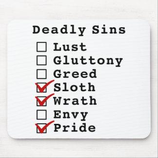 Seven Deadly Sins Checklist (0001101) Mouse Pads