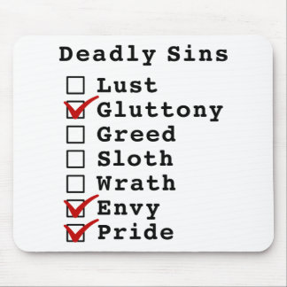 Seven Deadly Sins Checklist (0100011) Mouse Pad