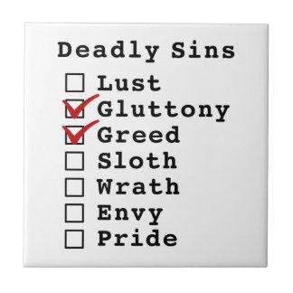 Seven Deadly Sins Checklist (0110000) Tile