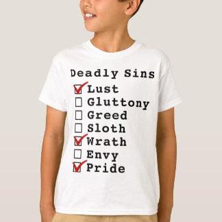 Seven Deadly Sins Checklist (1000101) T-Shirt