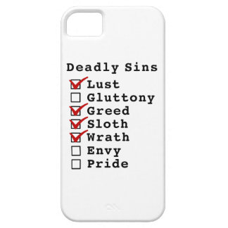 Seven Deadly Sins Checklist (1011100) iPhone 5 Covers