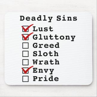 Seven Deadly Sins Checklist (1100010) Mousepads