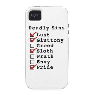 Seven Deadly Sins Checklist (1101001) iPhone 4 Case