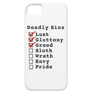 Seven Deadly Sins Checklist (1110000) iPhone 5 Cover