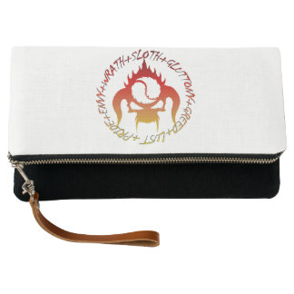 Seven deadly sins Fold-Over Clutch