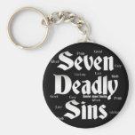 Seven Deadly Sins Logo Basic Round Button Keychain