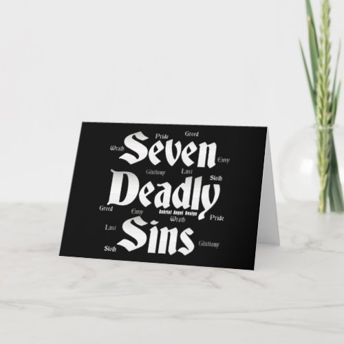 Seven Deadly Sins Logo Card