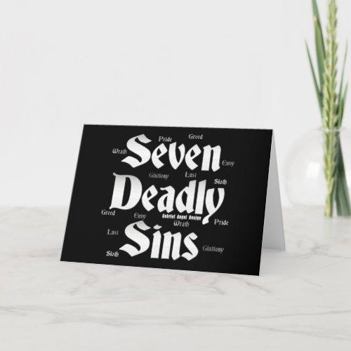 Seven Deadly Sins Logo Card