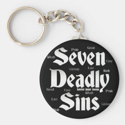 Seven Deadly Sins Logo Keychain