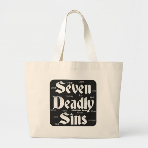 Seven Deadly Sins Logo Large Tote Bag