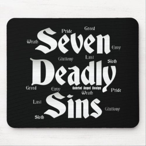 Seven Deadly Sins Logo Mouse Pad