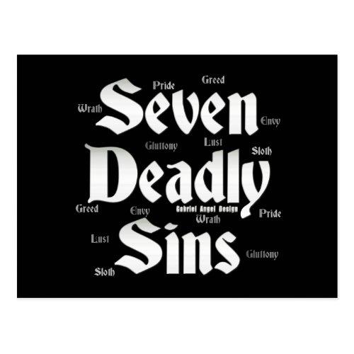 Seven Deadly Sins Logo Postcard