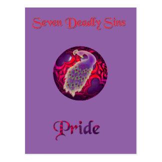 "Seven deadly sins ""Pride"" postcard"