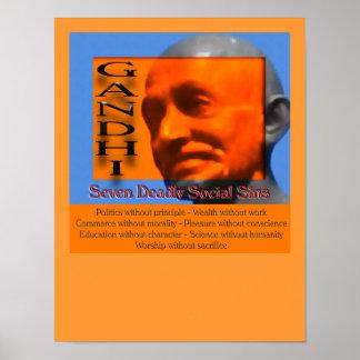 Seven Deadly Social Sins Recognition Print