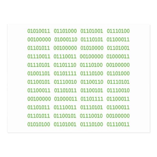 Seven Dirty Binary Codes Postcard