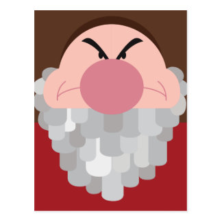 Seven Dwarfs - Grumpy Character Body Postcard