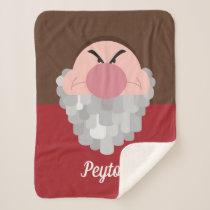 Seven Dwarfs - Grumpy Character | Name Sherpa Blanket
