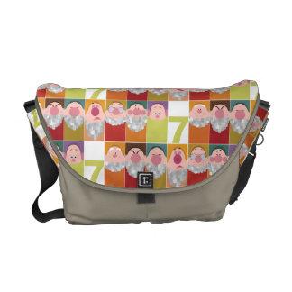 Seven Dwarfs Stylized Character Art Messenger Bag