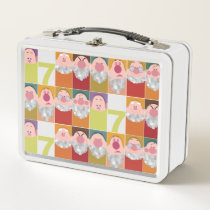 Seven Dwarfs Stylized Character Art Metal Lunch Box