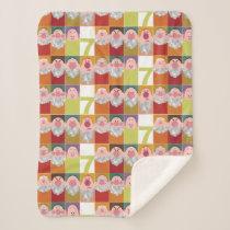Seven Dwarfs Stylized Character Art Sherpa Blanket