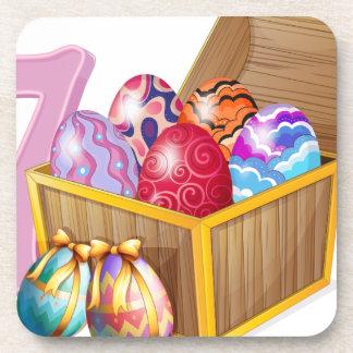 Seven Easter eggs Coaster